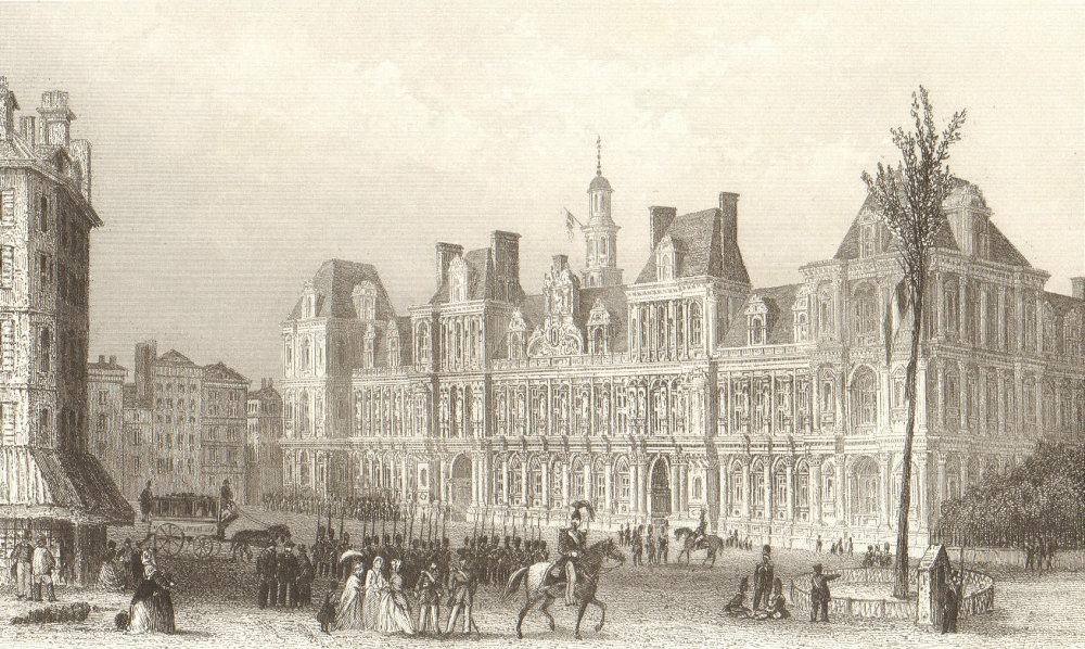 Associate Product PARIS. The Hotel de Ville. BICKNELL 1845 old antique vintage print picture