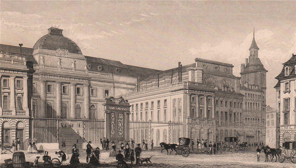 Associate Product PARIS. Palais de Justice. BICKNELL 1845 old antique vintage print picture
