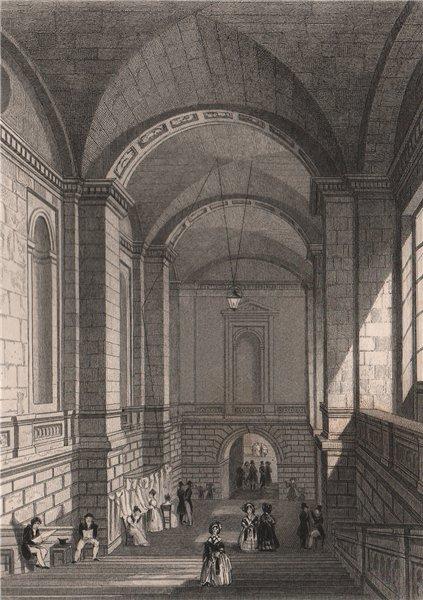 Associate Product PARIS. L'escalier du Palais de Justice. BICKNELL 1845 old antique print