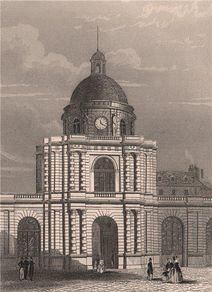 Associate Product PARIS. Entrée du Palais du Luxembourg. BICKNELL 1845 old antique print picture