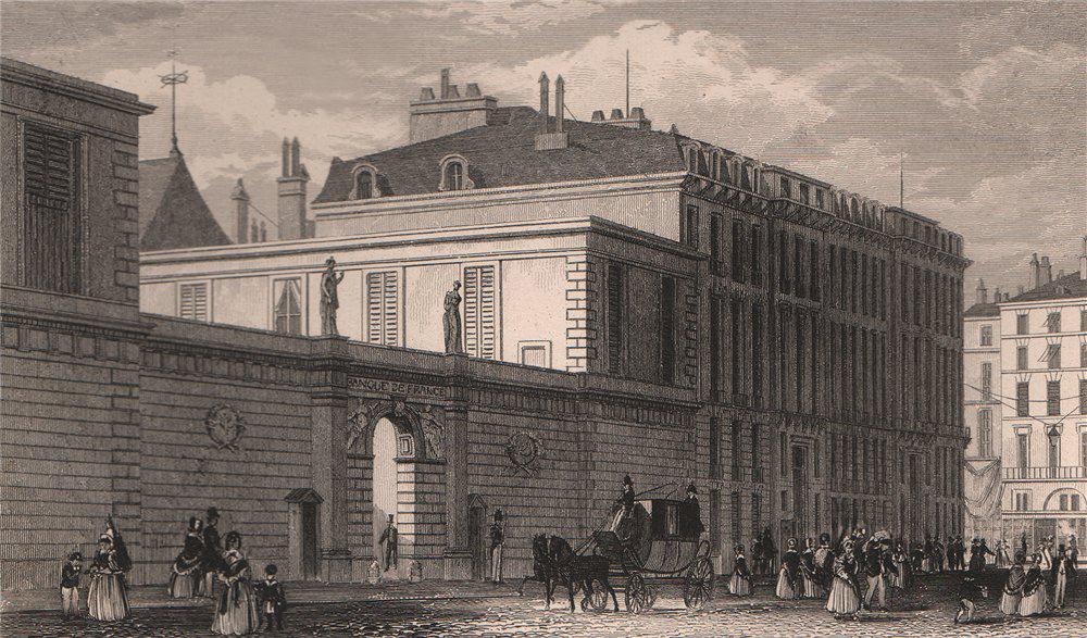 Associate Product PARIS. Banque de France. BICKNELL 1845 old antique vintage print picture