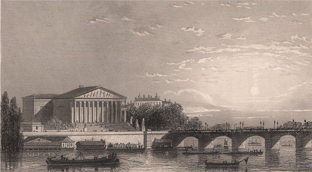 Associate Product PARIS. La Chambre des Députés. BICKNELL 1845 old antique vintage print picture
