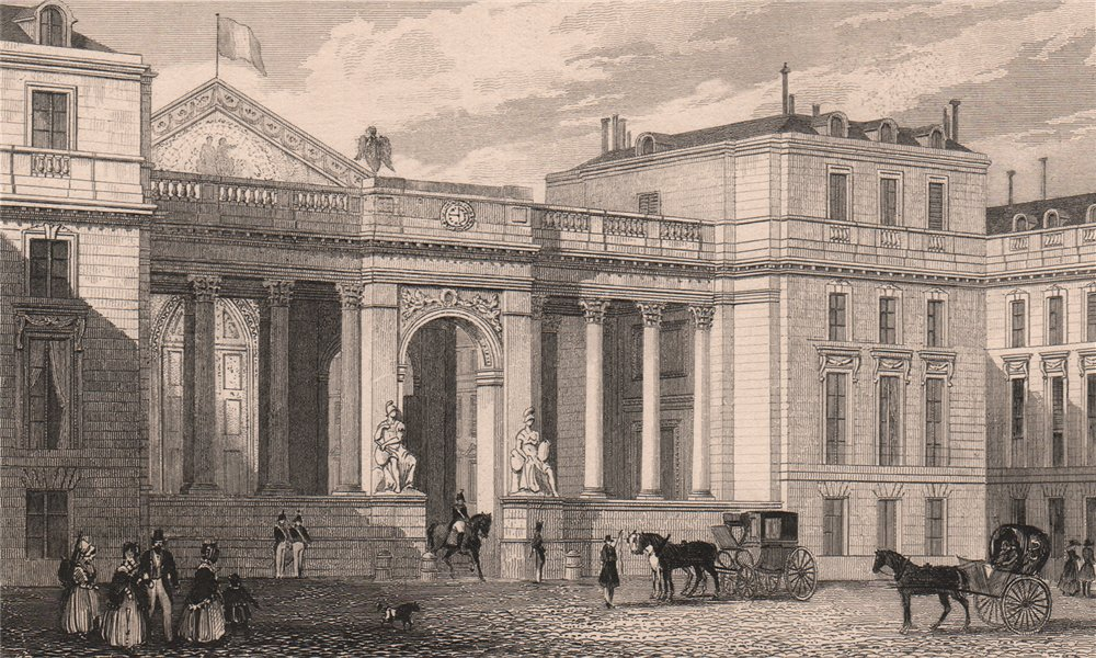 Associate Product PARIS. Screen to the court yard, National Assembly. BICKNELL 1845 old print