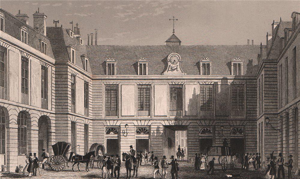 Associate Product PARIS. Grand Bureau de la Poste. BICKNELL 1845 old antique print picture