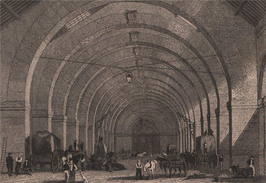 Associate Product PARIS. Octroi general. BICKNELL 1845 old antique vintage print picture