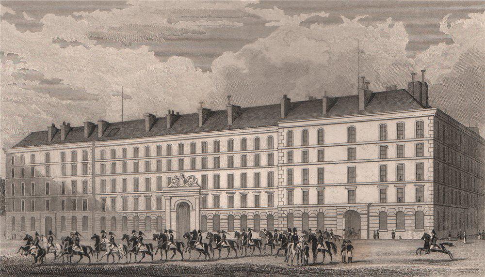 Associate Product PARIS. Hotel du Garde du Corps. BICKNELL 1845 old antique print picture