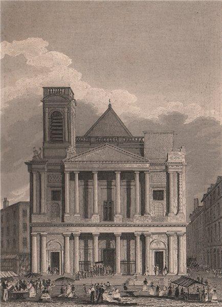 Associate Product PARIS. Eglise de Saint-Eustache I. BICKNELL 1845 old antique print picture