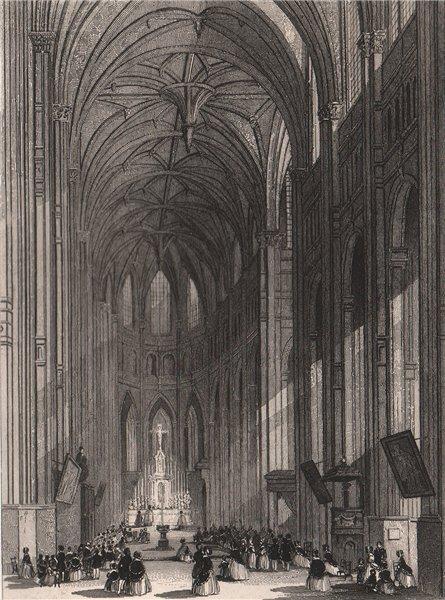 Associate Product PARIS. Eglise de Saint-Eustache II. BICKNELL 1845 old antique print picture