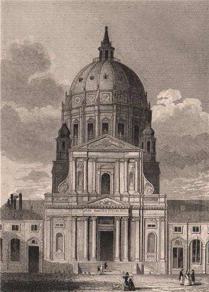 Associate Product PARIS. Val de Grace. BICKNELL 1845 old antique vintage print picture