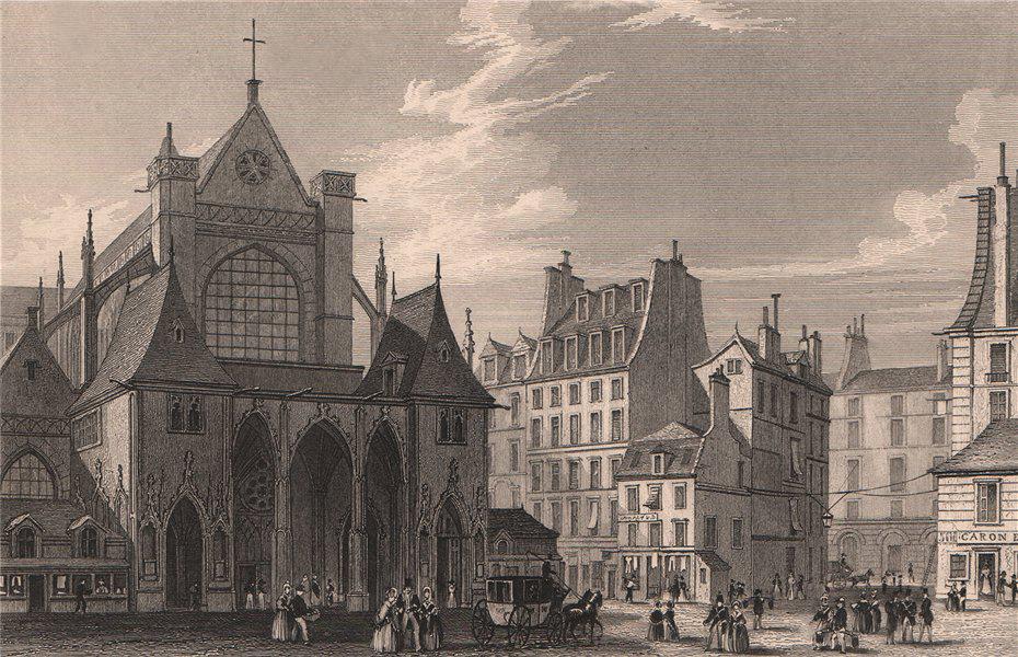 Associate Product PARIS. Eglise de Saint-Germain Saint-Auxerrois. BICKNELL 1845 old print