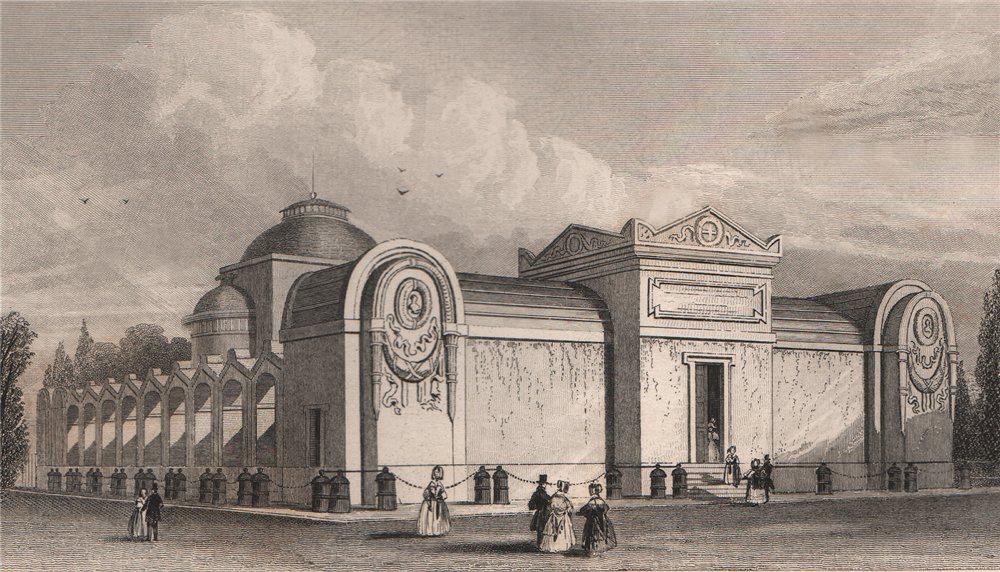 PARIS. Exterieure de la chapelle Expiatoire de Louis XVI. BICKNELL 1845 print
