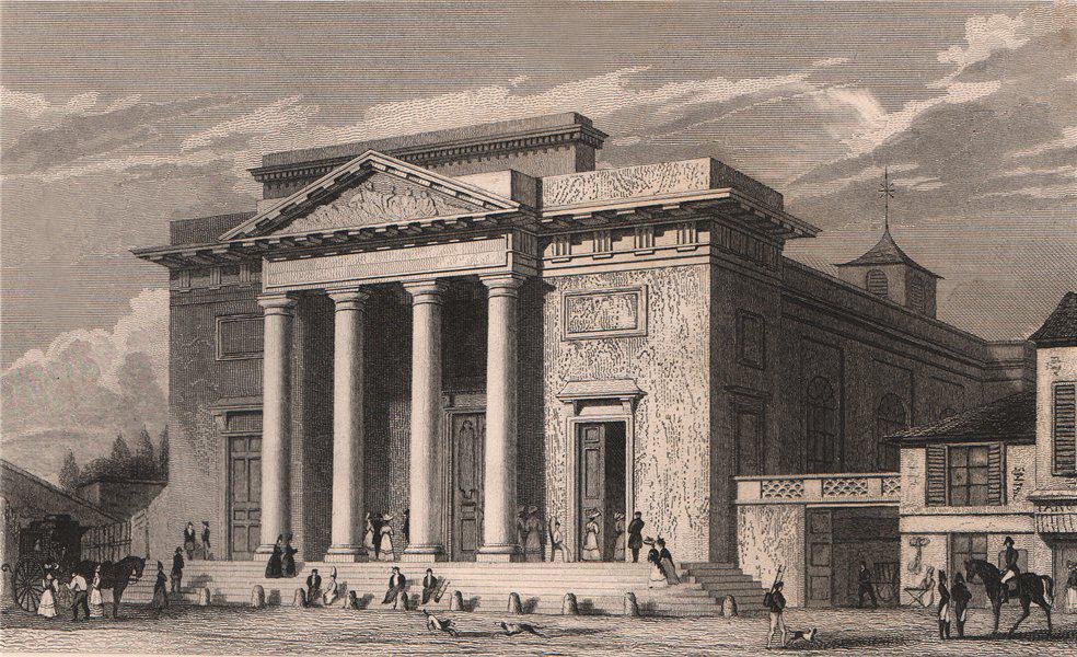 Associate Product PARIS. Eglise de Saint-Philippe du Roule. BICKNELL 1845 old antique print