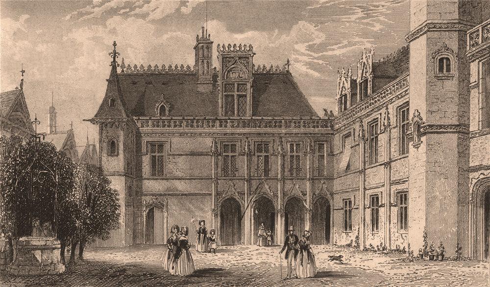 Associate Product PARIS. Hotel de Cluny I. BICKNELL 1845 old antique vintage print picture