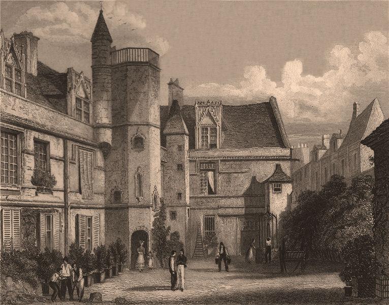 PARIS. Hotel de Cluny II. BICKNELL 1845 old antique vintage print picture