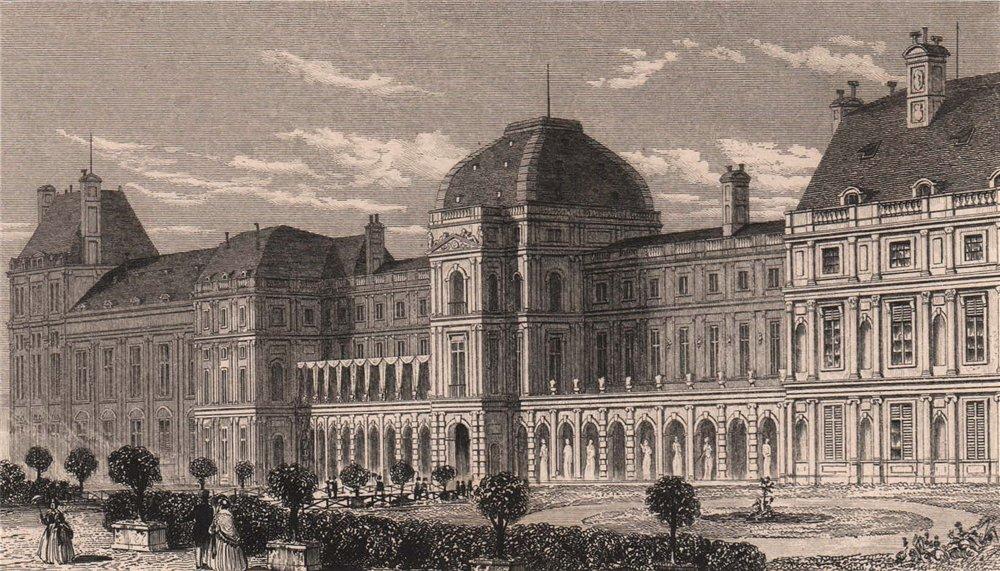 Associate Product PARIS. Palais des Tuileries, du cote du jardin. BICKNELL 1845 old print