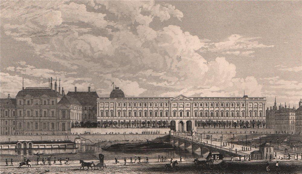 Associate Product PARIS. Vue du Louvre, du Palais de l'Institut. BICKNELL 1845 old antique print