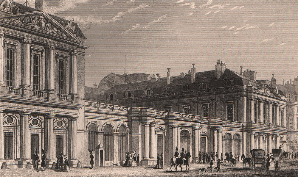 Associate Product PARIS. Palais National street front. BICKNELL 1845 old antique print picture