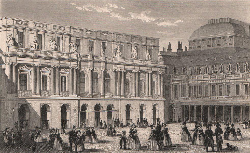 Associate Product PARIS. Palais Royal I. BICKNELL 1845 old antique vintage print picture