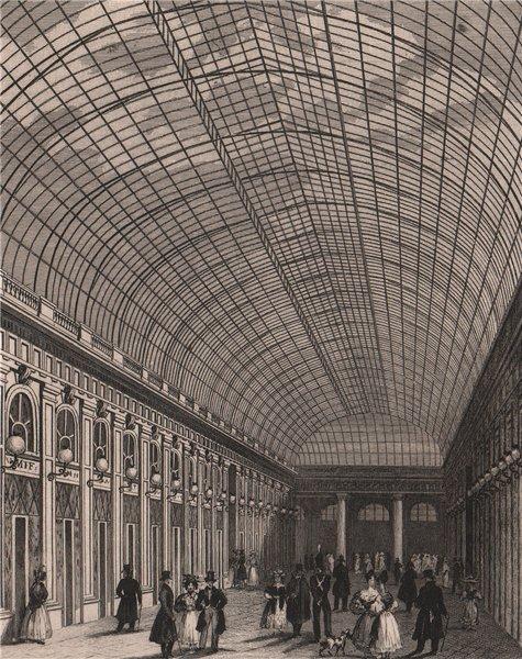 Associate Product PARIS. Interieur de la Galerie du Palais Royal. BICKNELL 1845 old print