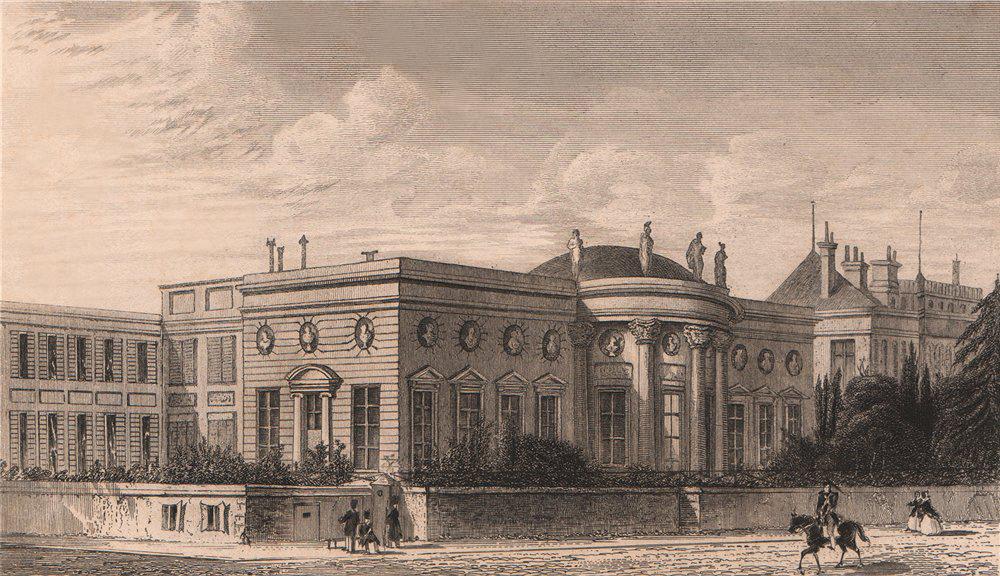 Associate Product PARIS. Palais de la Legion d'Honneur. BICKNELL 1845 old antique print picture