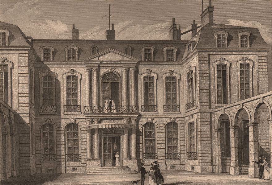 Associate Product PARIS. Hotel de l'Ambassadeur d'Angleterre. BICKNELL 1845 old antique print