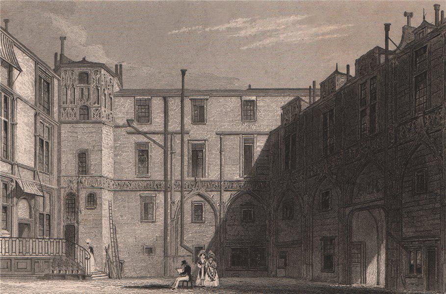 Associate Product PARIS. Hotel du Freux. BICKNELL 1845 old antique vintage print picture
