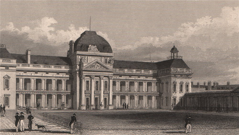 Associate Product PARIS. Ecole Militaire, façade meridionale. BICKNELL 1845 old antique print
