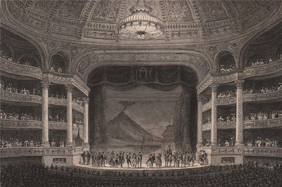 PARIS. Academie Royale de Musique. BICKNELL 1845 old antique print picture
