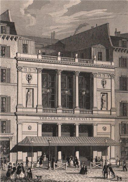 Associate Product PARIS. Theatre du Vaudeville. BICKNELL 1845 old antique vintage print picture