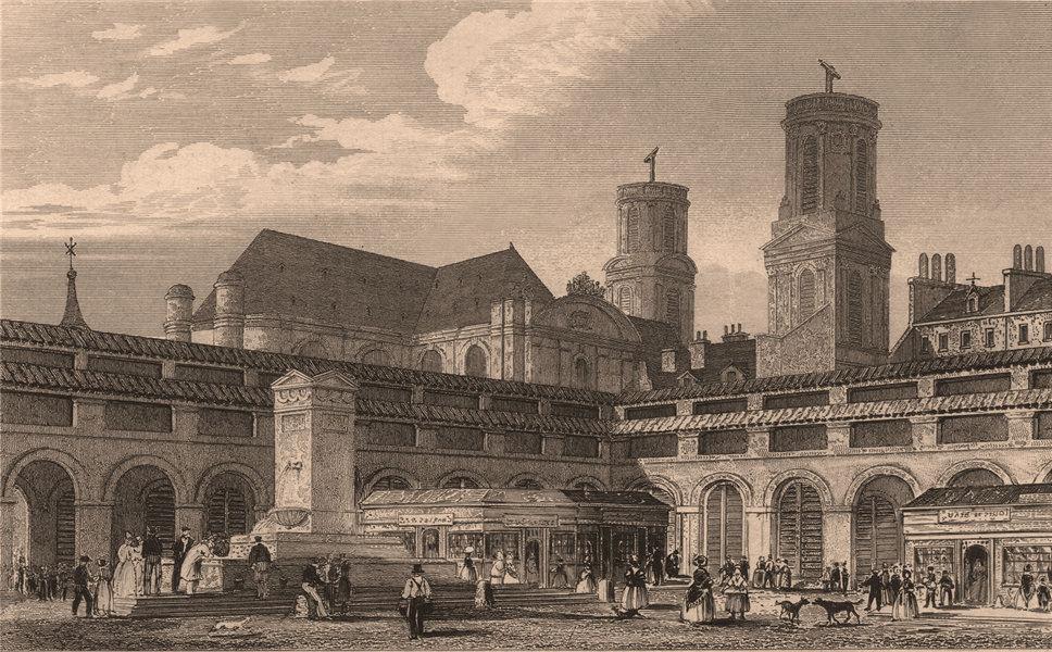 Associate Product PARIS. Marche Saint-Germain. BICKNELL 1845 old antique vintage print picture