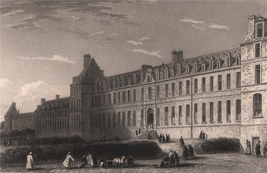 Associate Product PARIS. Hospice de Bicètre. BICKNELL 1845 old antique vintage print picture