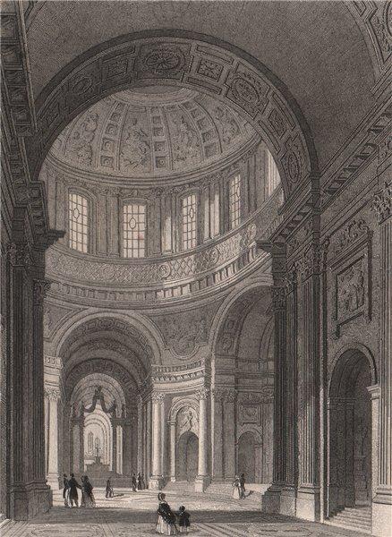 Associate Product PARIS. Dome des Invalides. BICKNELL 1845 old antique vintage print picture