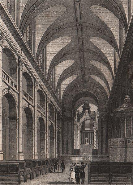 Associate Product PARIS. L'interieur de la Chapelle des Invalides. BICKNELL 1845 old print