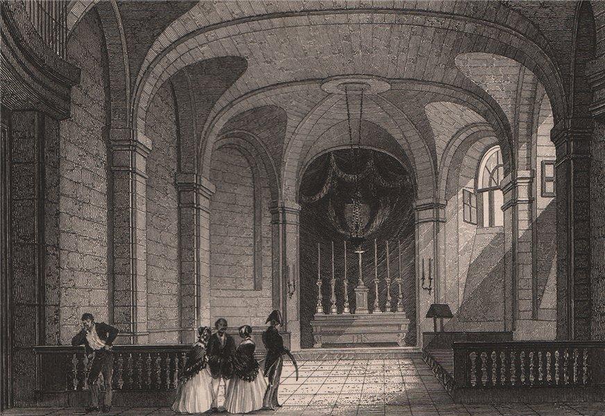 Associate Product PARIS. Chapelle de la Prison de la Conciergerie. BICKNELL 1845 old print