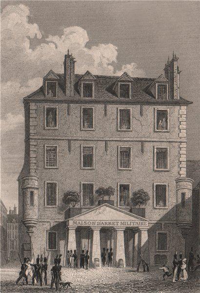 Associate Product PARIS. Prison de l'abbaye Saint-Germain. BICKNELL 1845 old antique print