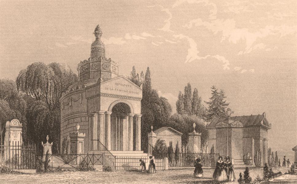 Associate Product PARIS. Monuments in Père Lachaise. BICKNELL 1845 old antique print picture