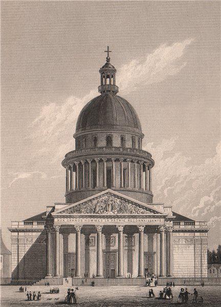 Associate Product PARIS. The Panthéon. BICKNELL 1845 old antique vintage print picture