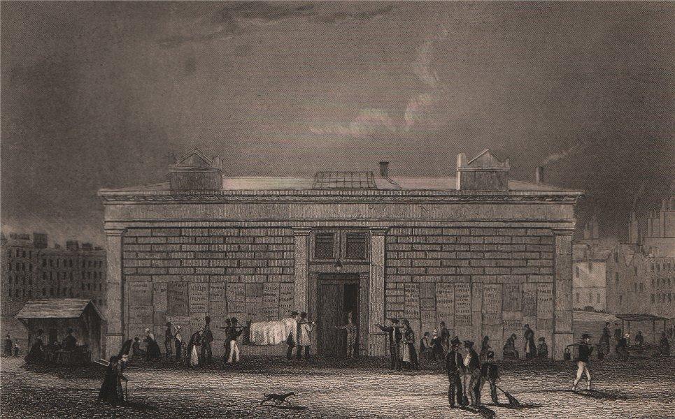 Associate Product PARIS. La morgue, Quai Notre Dame. BICKNELL 1845 old antique print picture