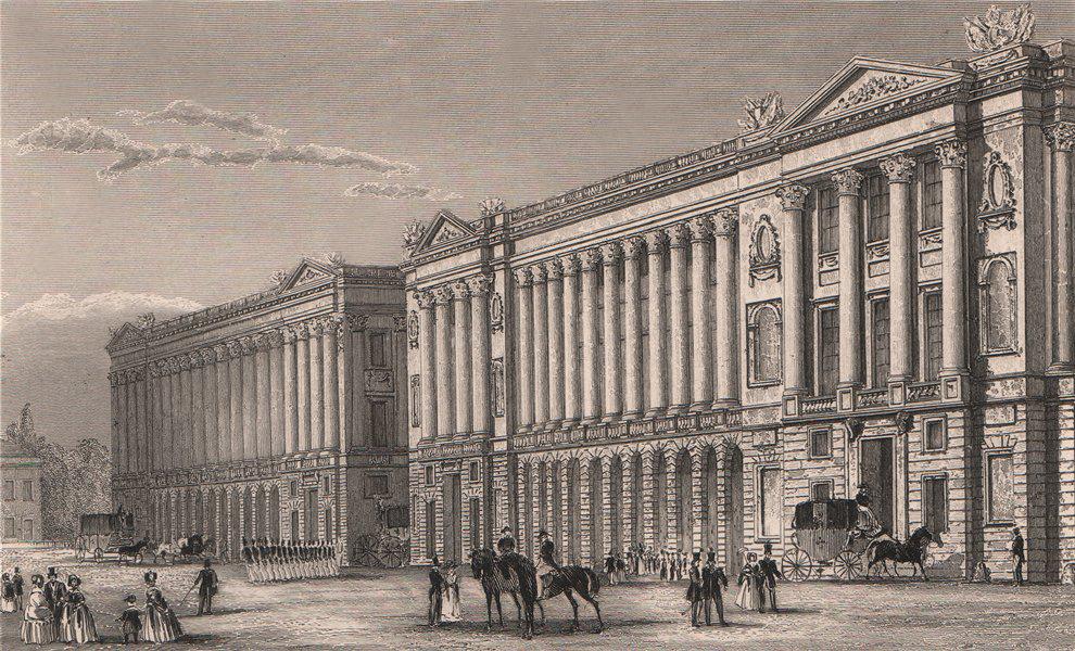 Associate Product PARIS. Garde Meuble, vers la Place Louis XVI. BICKNELL 1845 old antique print