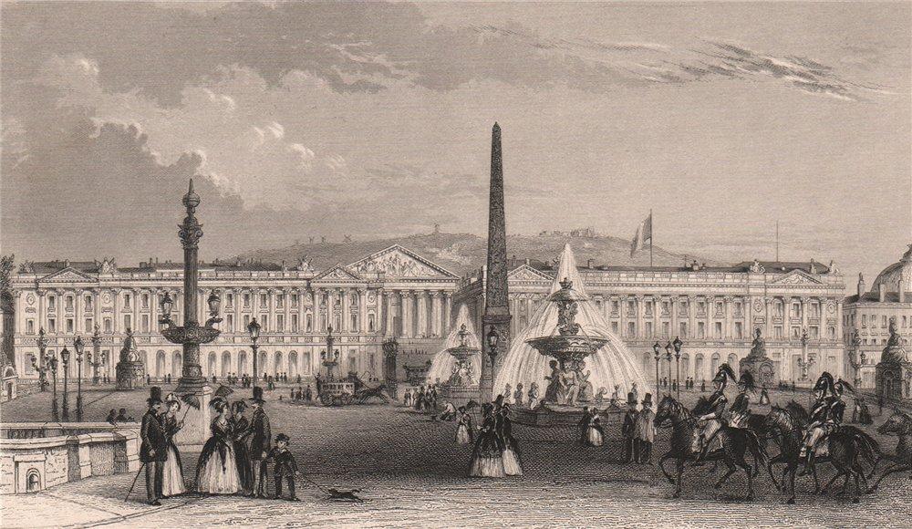 Associate Product PARIS. Place de la Concorde I. BICKNELL 1845 old antique vintage print picture