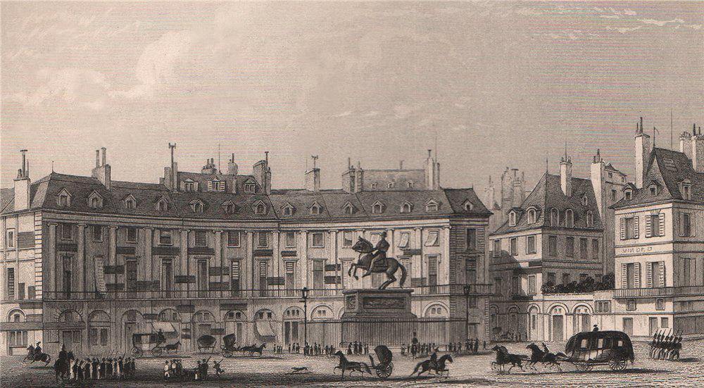 Associate Product PARIS. Place des Victoires. BICKNELL 1845 old antique vintage print picture