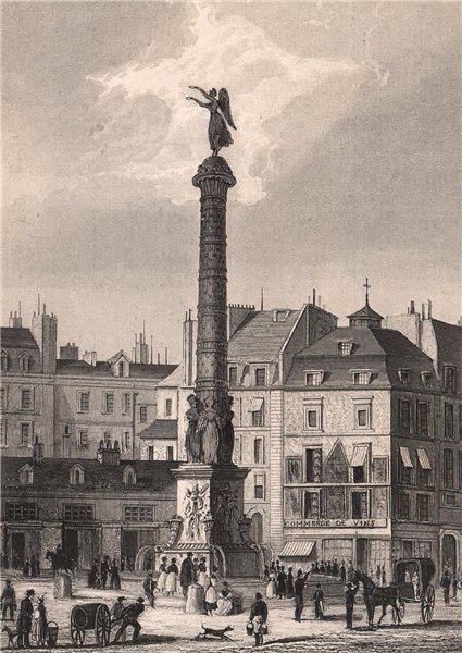 Associate Product PARIS. Fontaine du Chatelet. BICKNELL 1845 old antique vintage print picture