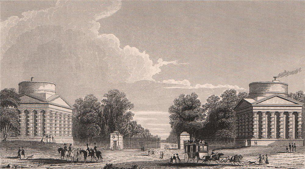 PARIS. Barriere de Neuilly. BICKNELL 1845 old antique vintage print picture