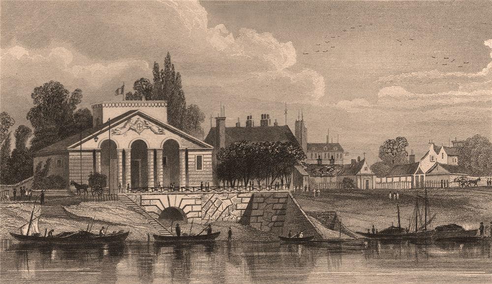 Associate Product PARIS. Barriere de la Cunette. BICKNELL 1845 old antique vintage print picture