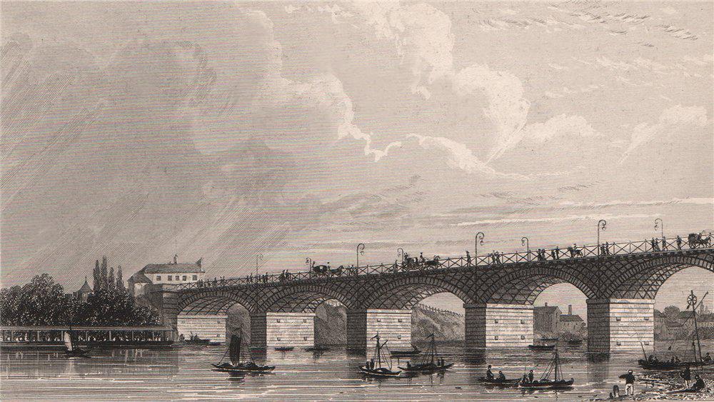 Associate Product PARIS. Pont d'Austerlitz. BICKNELL 1845 old antique vintage print picture