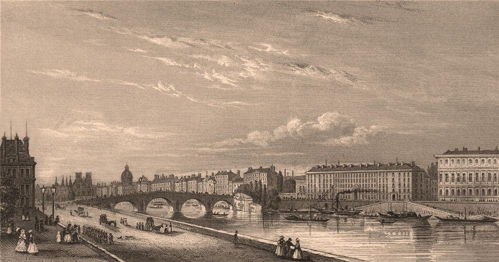Associate Product PARIS. The Royal Bridge. BICKNELL 1845 old antique vintage print picture