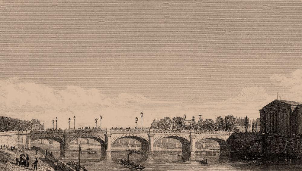 Associate Product PARIS. Pont de la Concorde. BICKNELL 1845 old antique vintage print picture