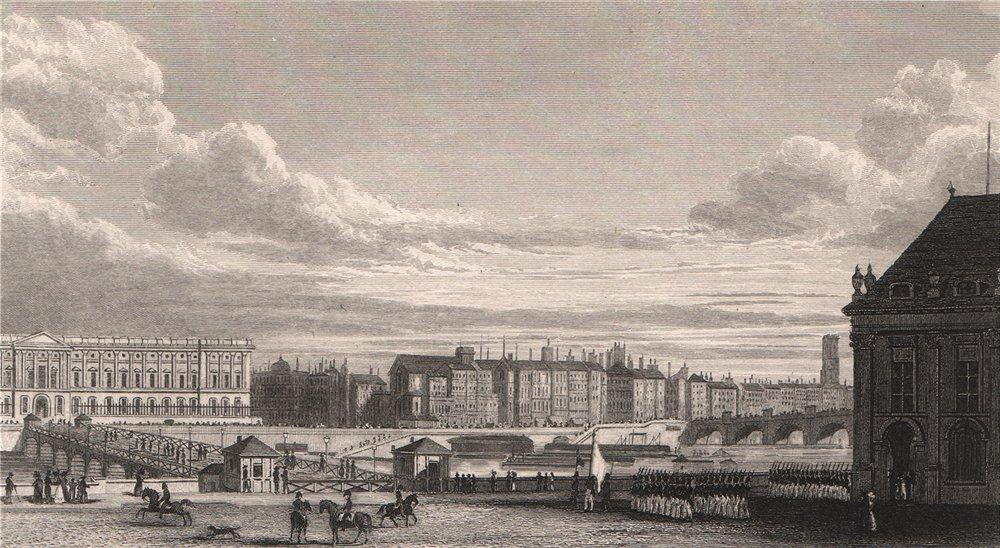 Associate Product PARIS. View de Paris de l'Institut. BICKNELL 1845 old antique print picture