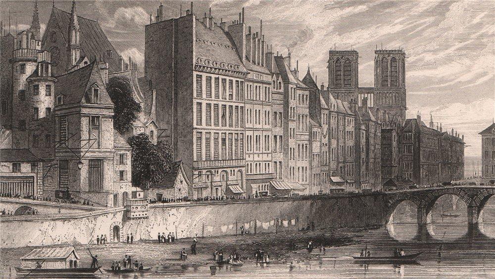 Associate Product PARIS. Quai des Orfevres. BICKNELL 1845 old antique vintage print picture