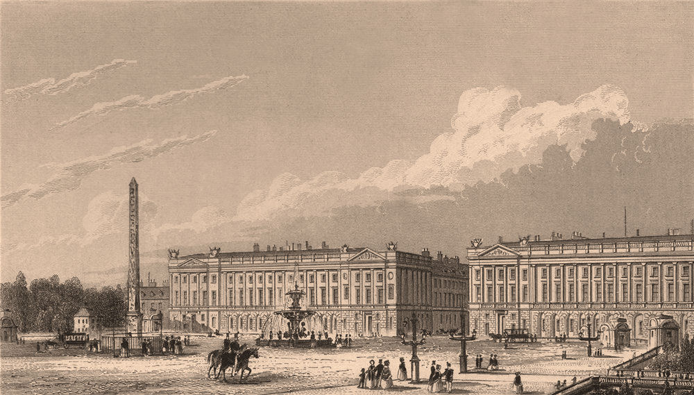 Associate Product PARIS. Place de la Concorde II. BICKNELL 1845 old antique print picture